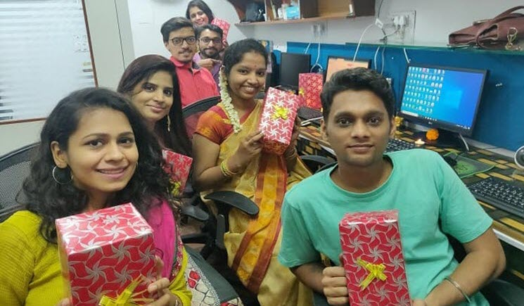 office Diwali celebretion photo