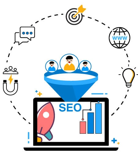 SEO Services for startups illustration